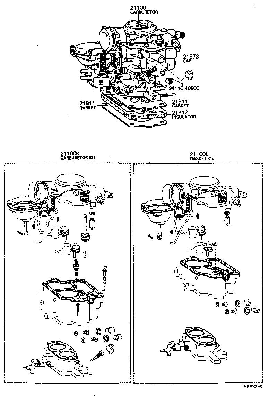 1972 toyota land cruiser carburetor