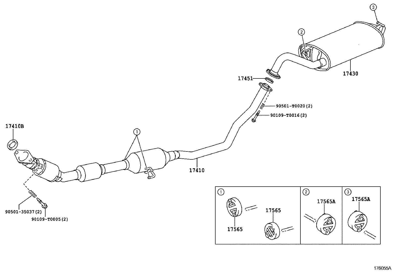 2001 toyota corolla exhaust system