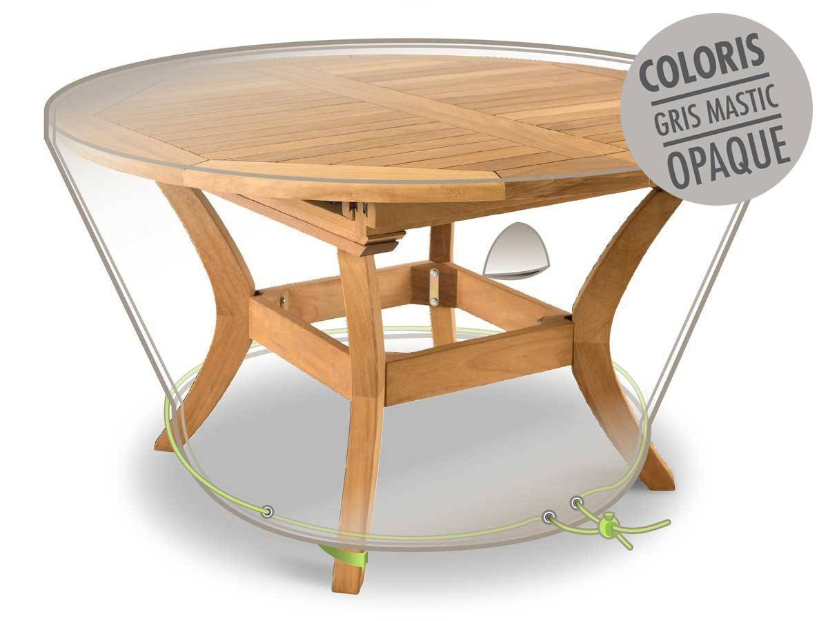 Protection Table Ronde Housse De Protection Table Ronde Ø120 X 50 Cm Luxe Jardideco