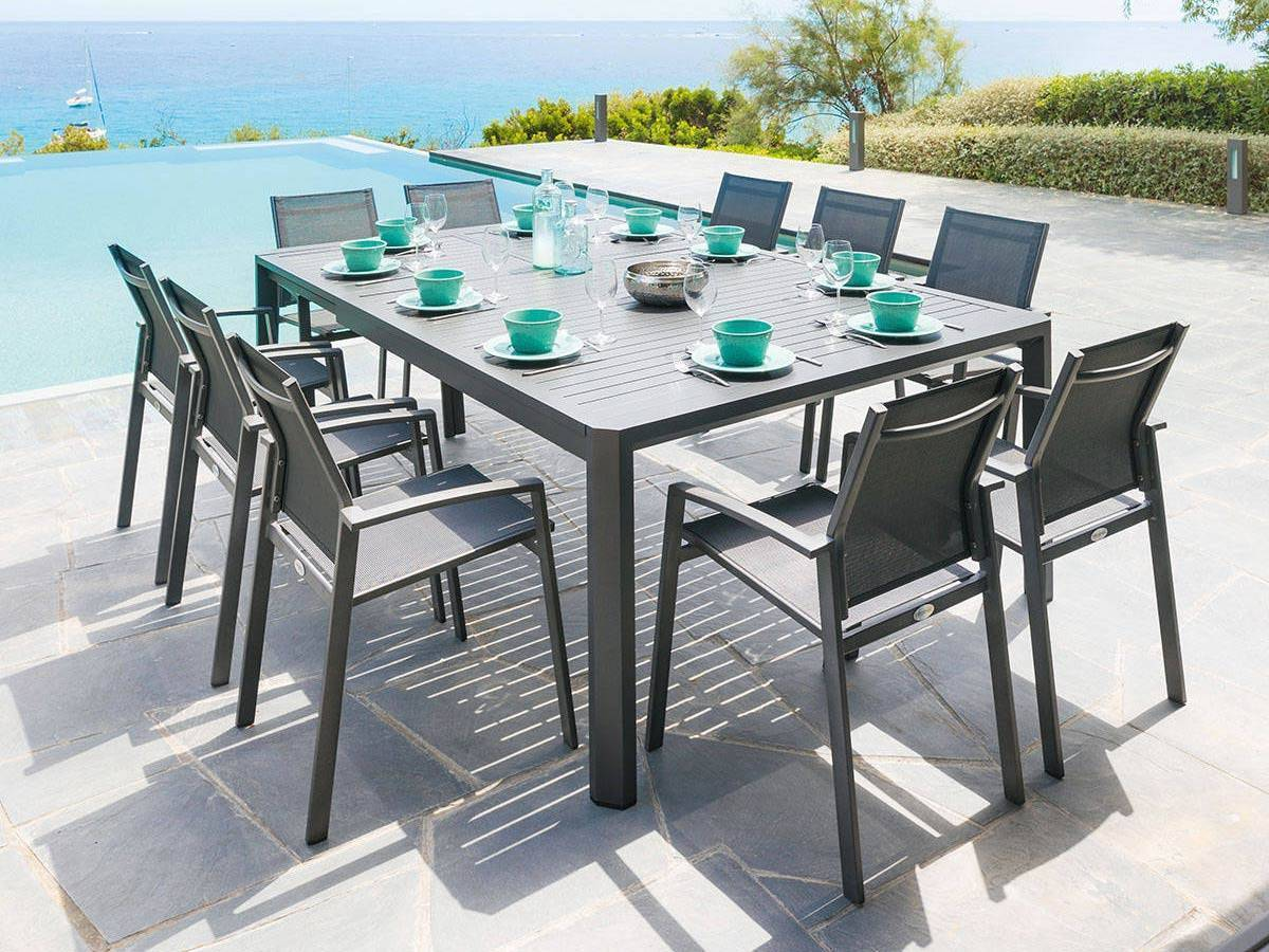 Table Jardin Table Extensible Séville 8 10 Places Graphite