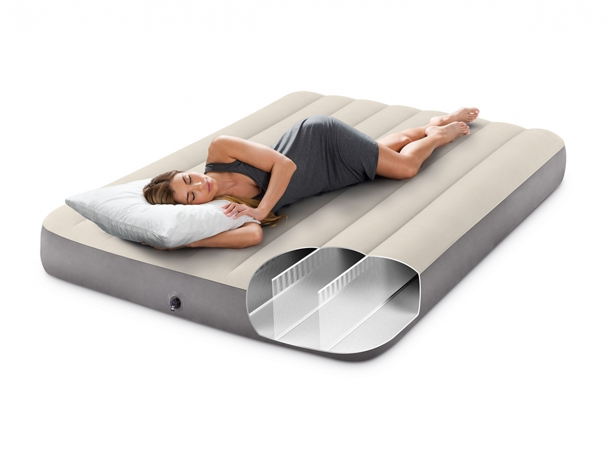 Matelas Intex 2 Places Matelas Gonflable Downy Fiber Tech 2 Places Intex