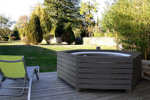 Jacuzzi Spa Gonflable Entourage / Habillage Bois Pour Spa Gonflable Intex Made
