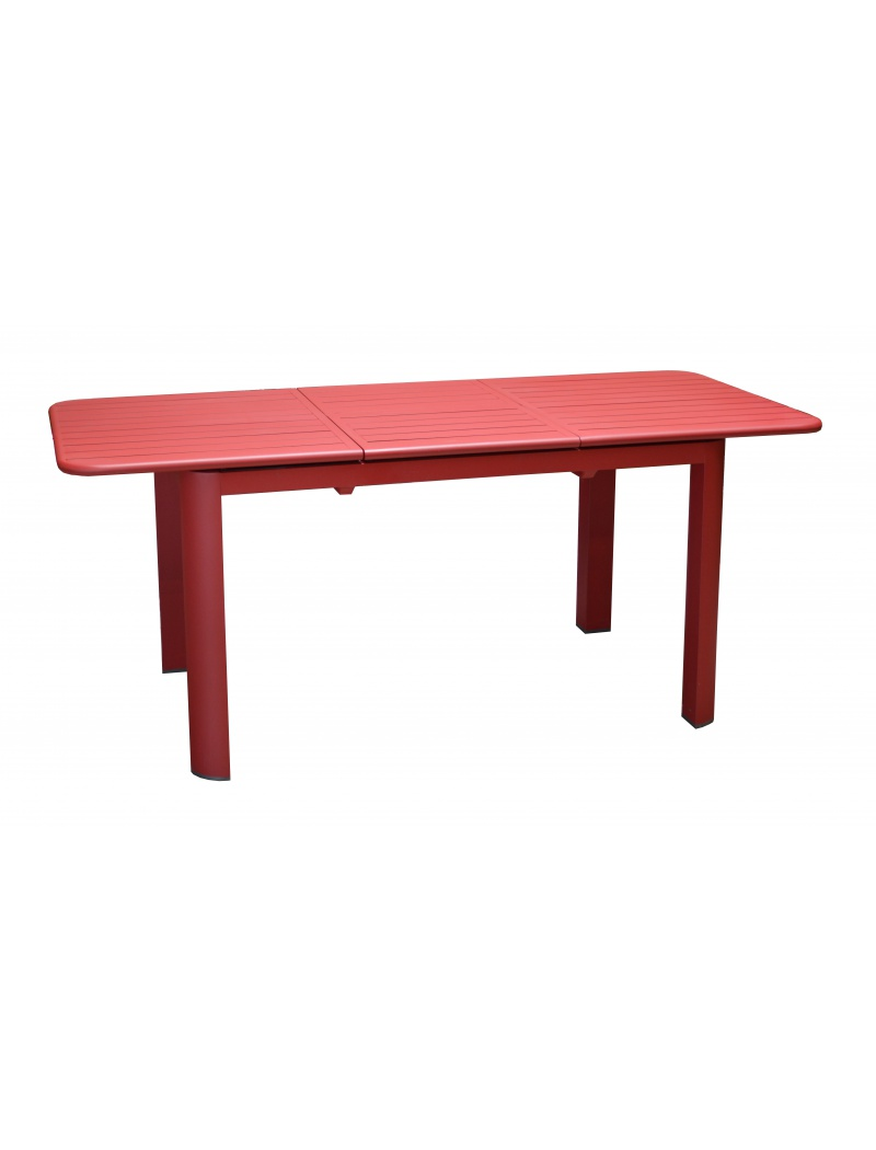 Table De Jardin Rouge Table De Jardin Eos 130 180 Rouge Avec Allonge