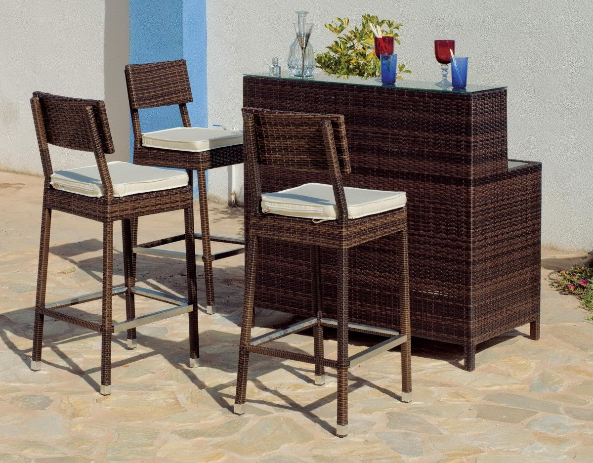 Set De 1 Table Bar Et 4 Tabourets Noir Beautiful Table Haute Et Tabouret De Jardin Ideas