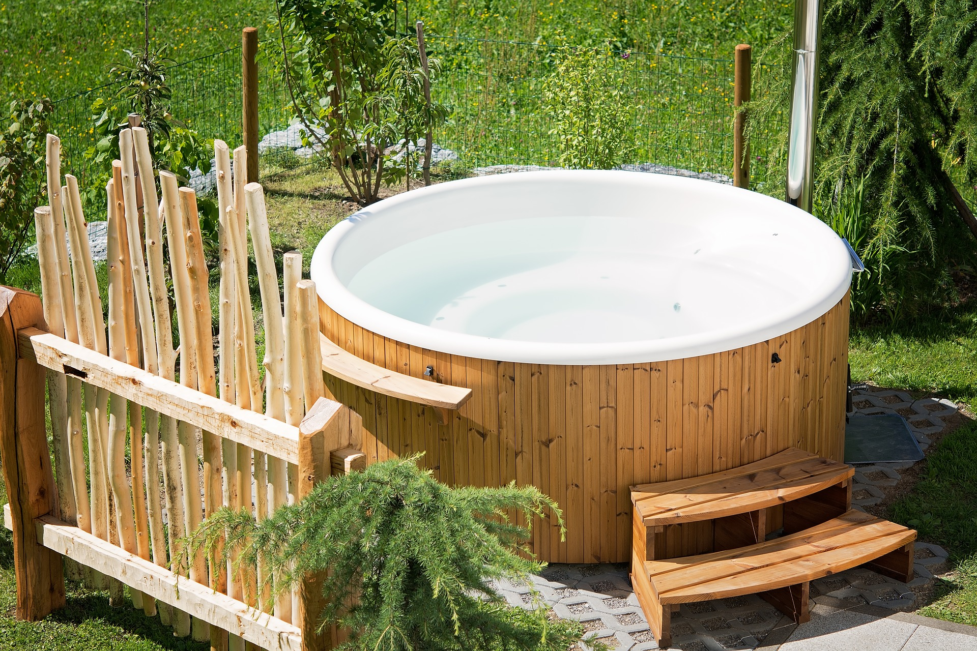 Spa Exterieur Semi Rigide Jacuzzi Extrieur Semienterr Simple Spa Luextrieur With Jacuzzi