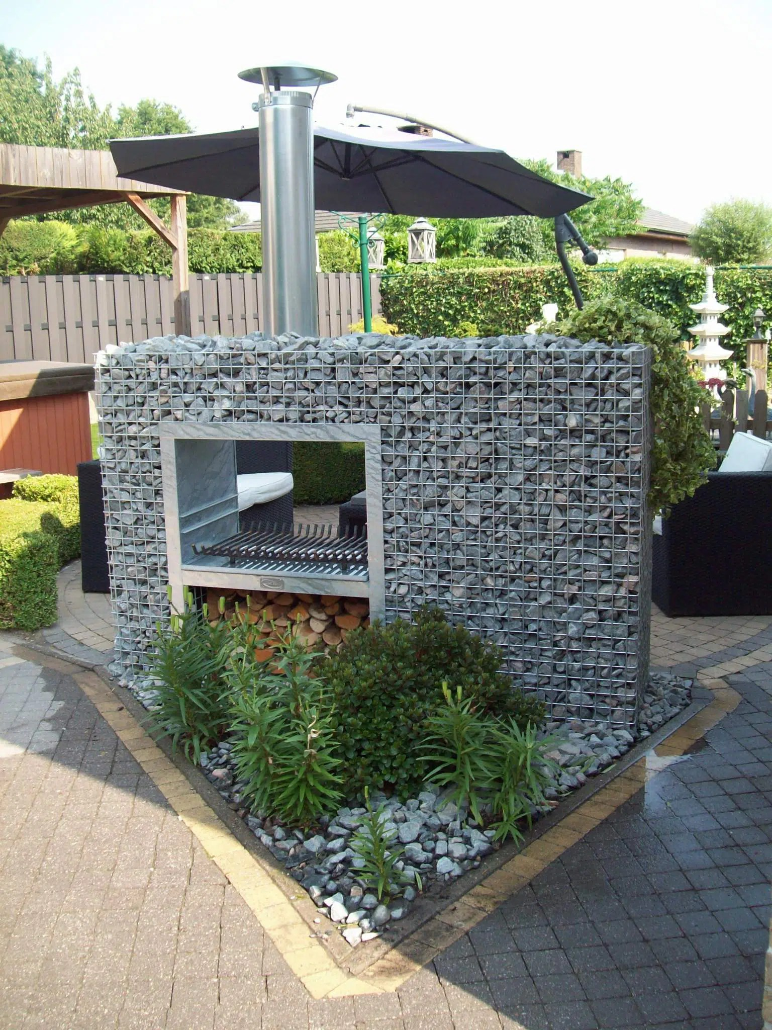 Decoration Barbecue Jardin Barbecue Gabion Rectangle Jardivrac Décoration Pour Le
