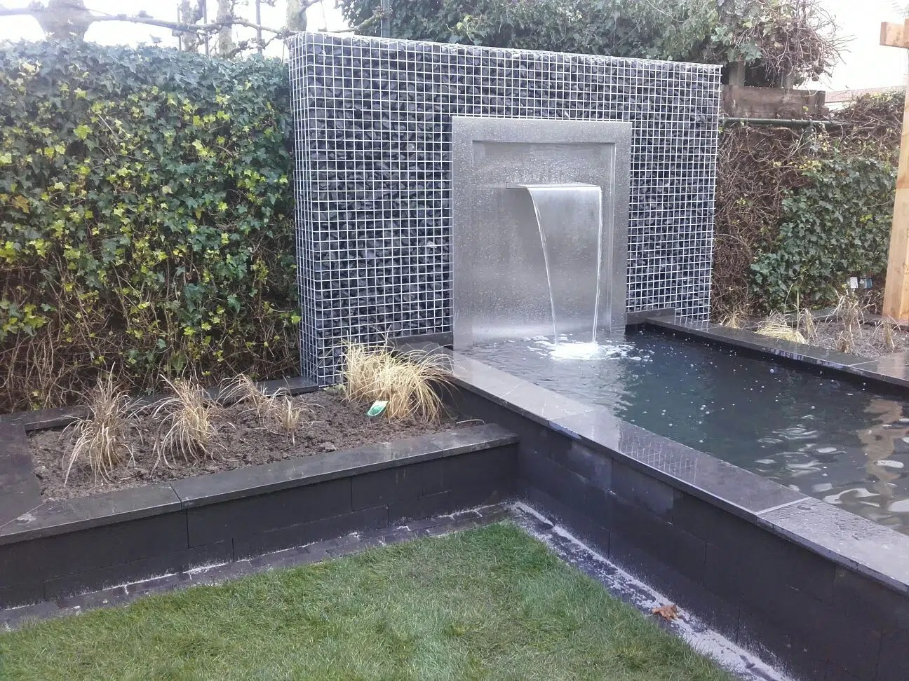 Amenagement Exterieur Fontaine Fontaine Lame D Eau Gabion