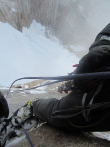 Rappelling Fitz Roy's steep south face