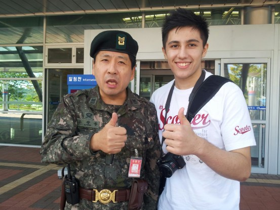 Picture with a cool military guy!