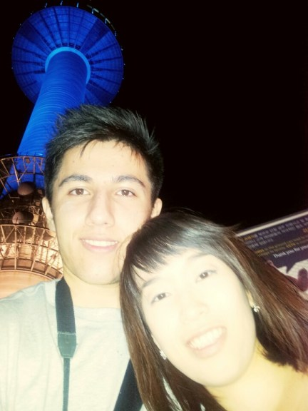 Picture of us under Seoul Tower
