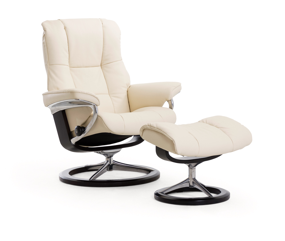 Stressless Paloma Stressless Mayfair Large Recliner And Foot Stool In Paloma Funghi