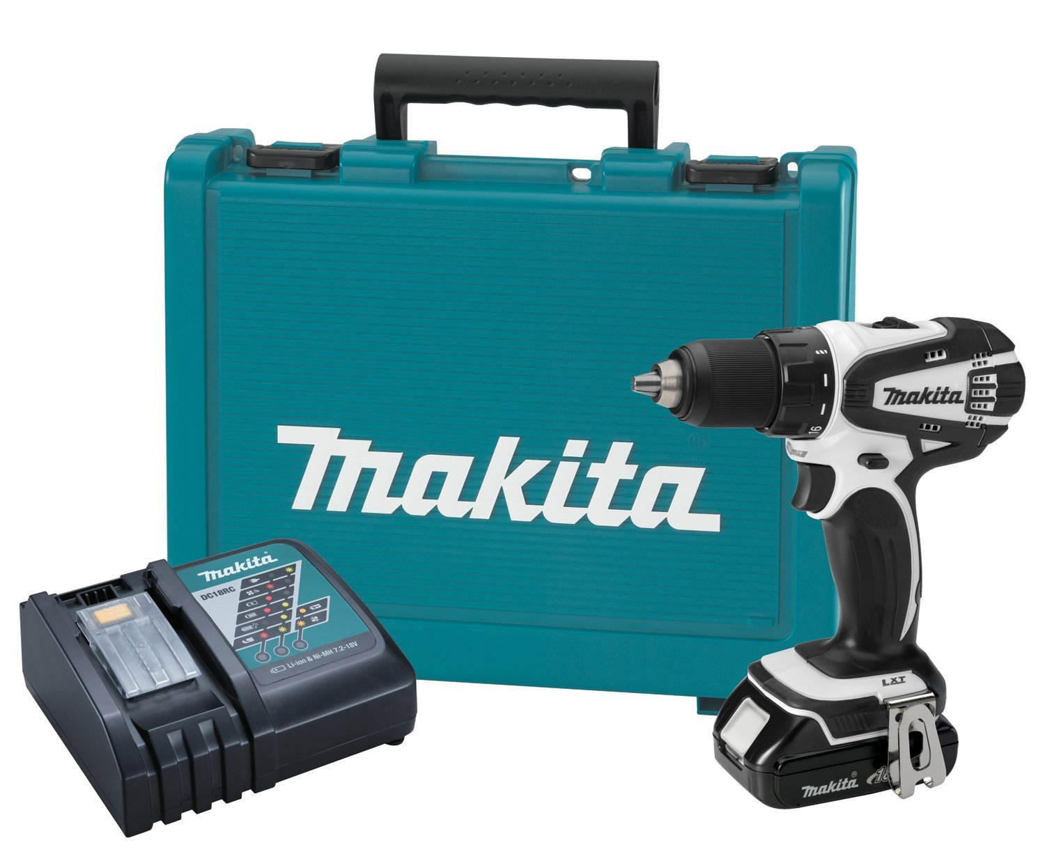 Makita Accuboor Set Makita 18 Volt Compact Lithium Ion Cordless Drill Kit