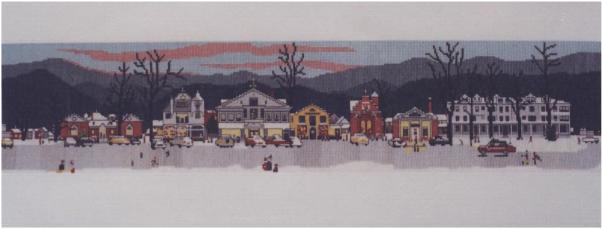 Norman Rockwell's painting of Stockbridge, MA