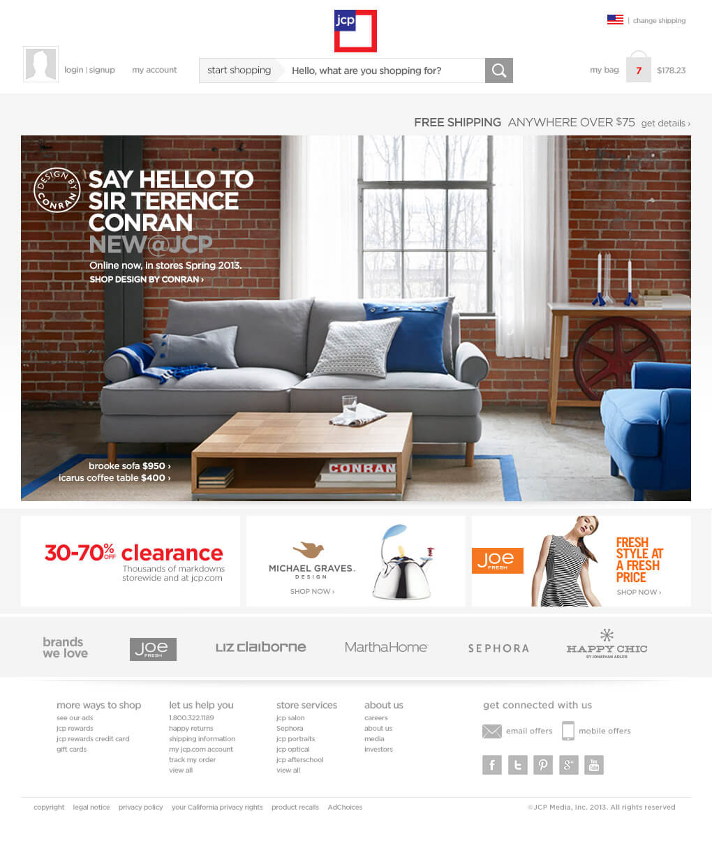 Jcpenney Home Page Redesign Jason Feng Cobb User Experience Design Technology