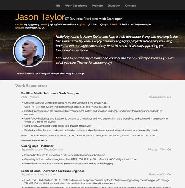 Resume - online resume website