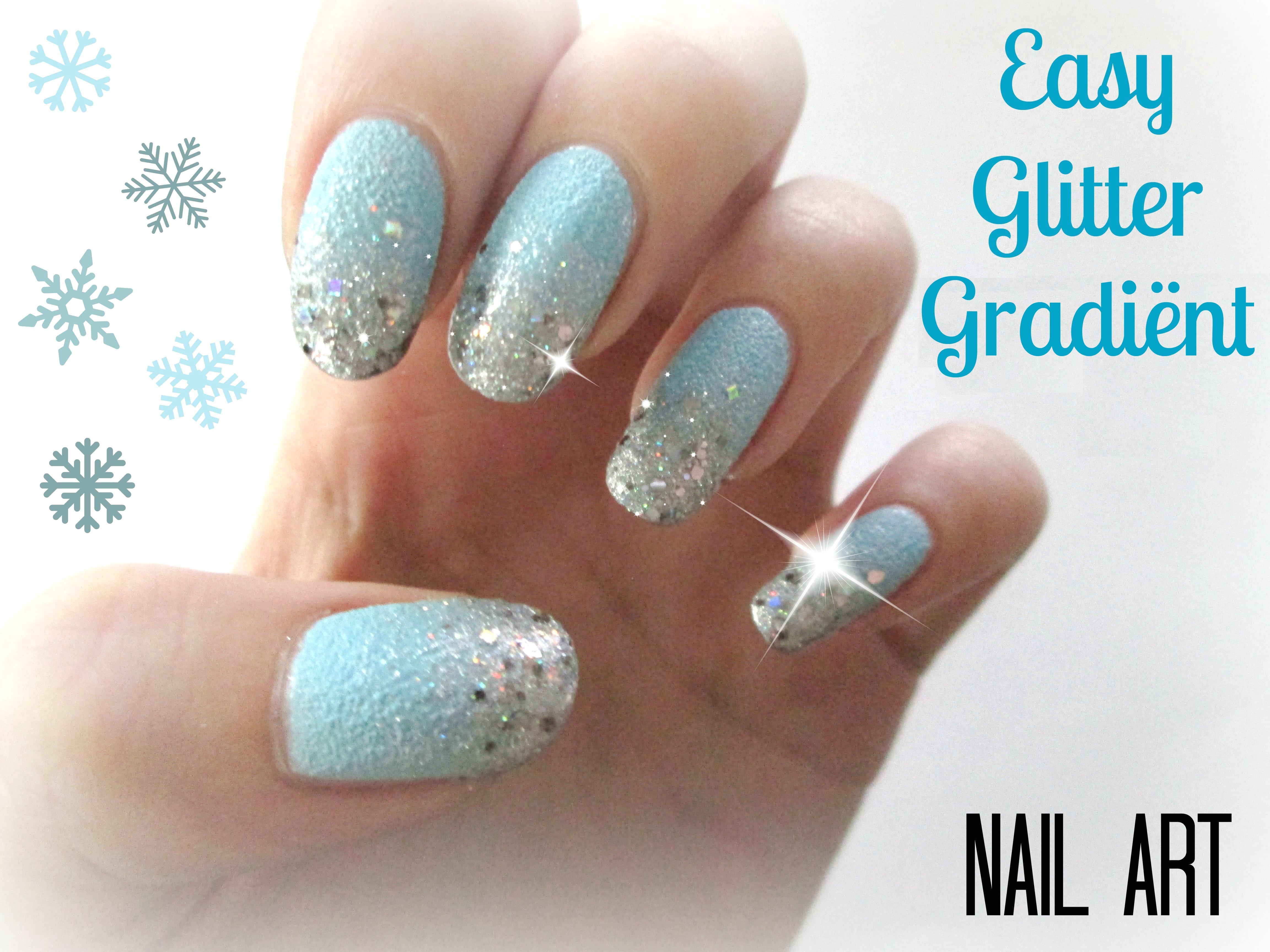 Easy Glitter Gradient Nail Art Jaudith