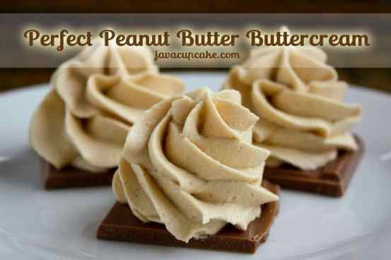 The Perfect Peanut Butter Buttercream by JavaCupcake.com
