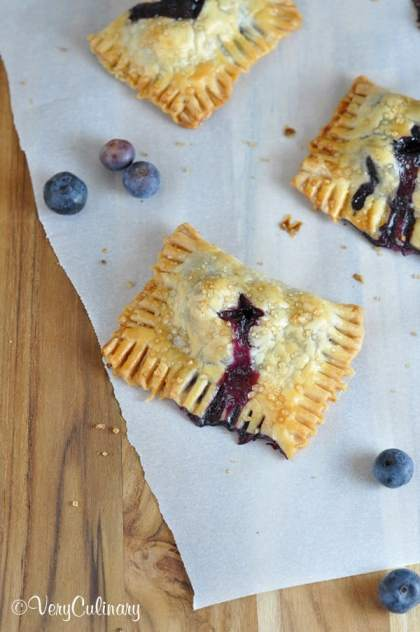 Blueberry Coconut Mini Hand Pies | Very Culinary for JavaCupcake.com