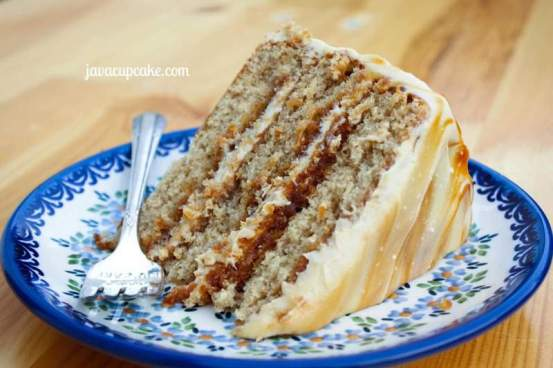 Salted Caramel Layer Cake by JavaCupcake.com
