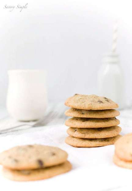 Coffee Toffee Chocolate Chip Cookies - Savory Simple for JavaCupcake.com