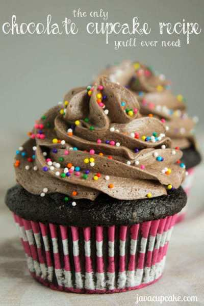 The Only Chocolate Cupcake Recipe You'll Ever Need! by JavaCupcake.com