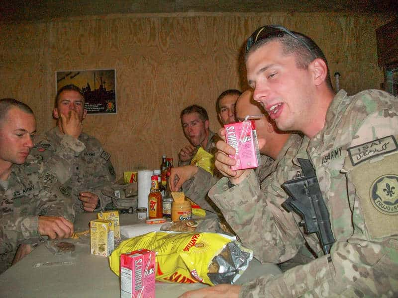 2nd PLT soldiers really excited about juice!