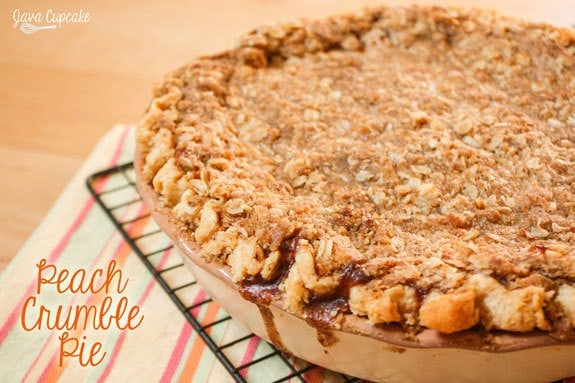 Peach Crumble Pie | JavaCupcake.com