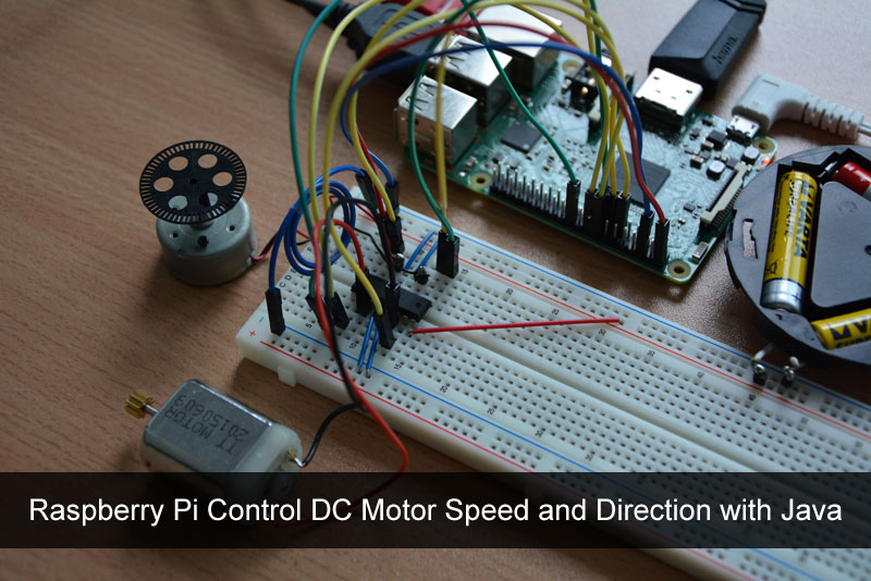 Raspberry Pi Control DC Motor Speed and Direction with Java Java