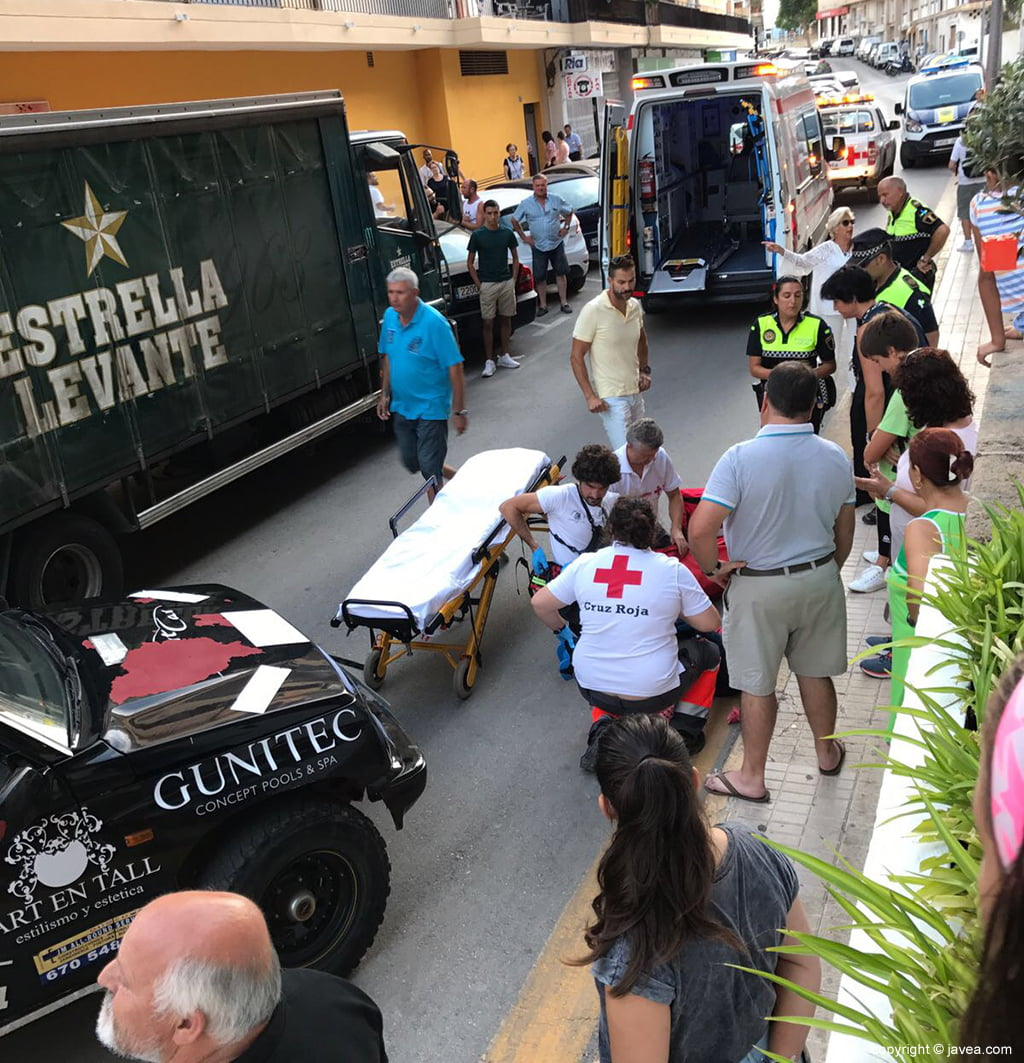 Gunitec Accident In Which A Vehicle Collides And A Bicycle Jávea