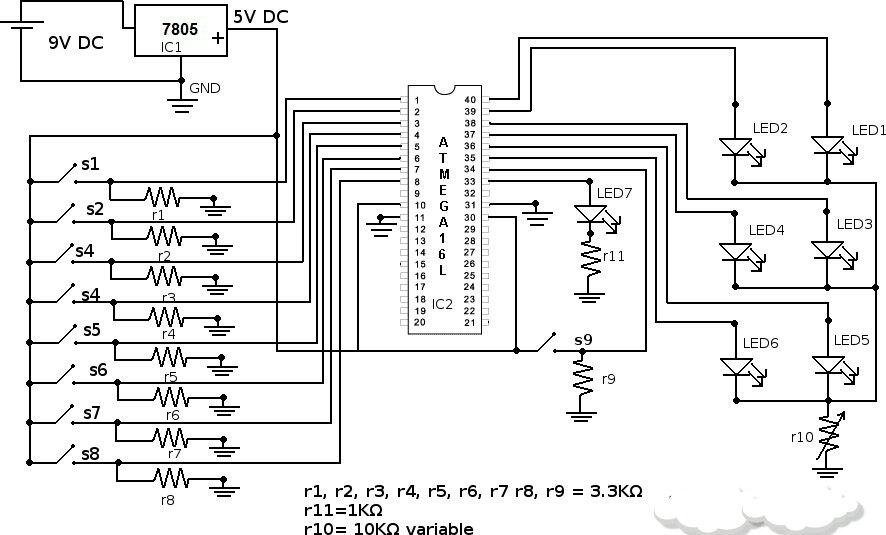 circuit diagram of boolean algebra calculator