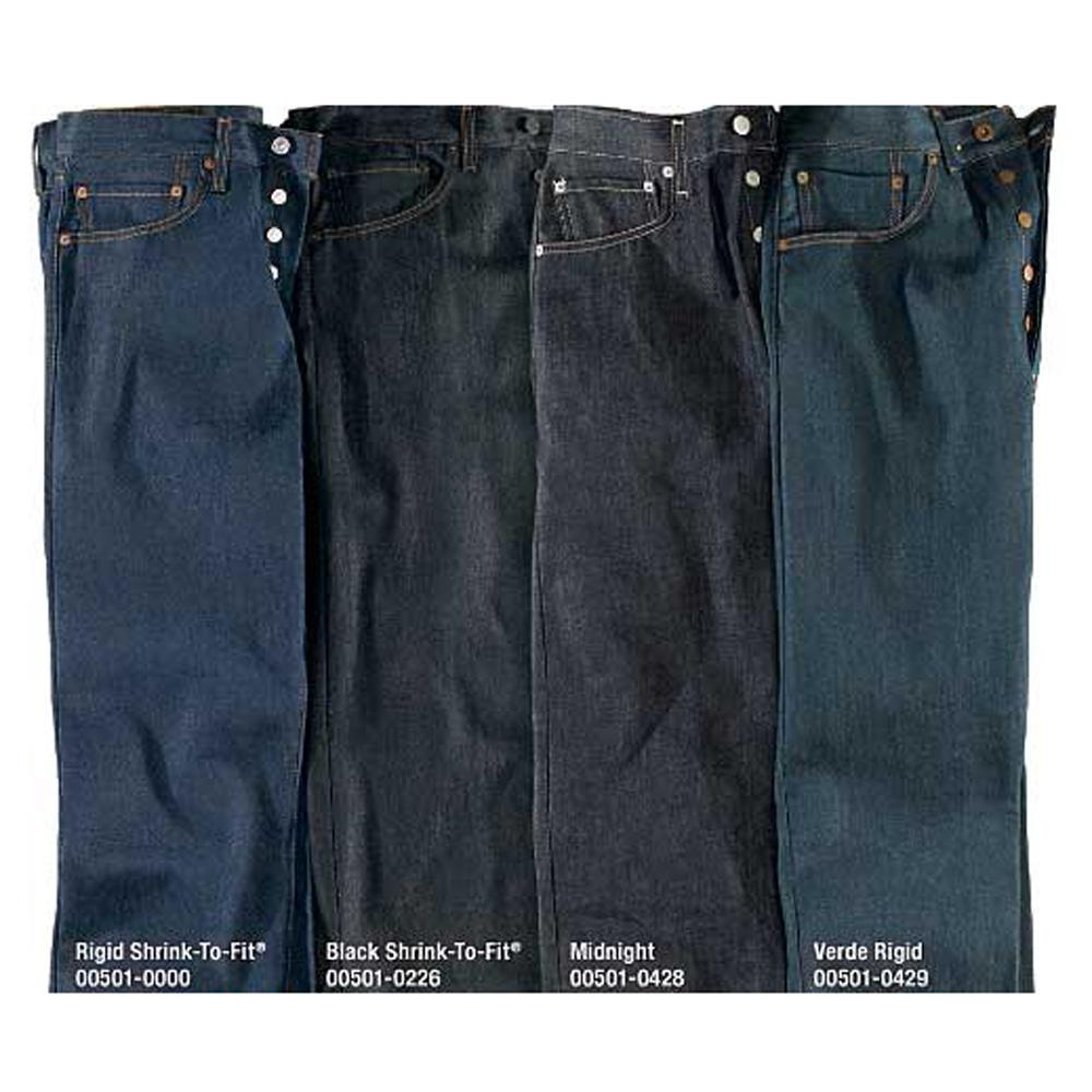 Jeans Levis Levi Strauss 501 Rigid Shrink To Fit Jeans