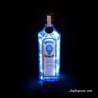 Bombay Sapphire London Gin Bottle LED Lamp | Gallery ...