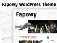 Fapowy, a Free WordPress Theme