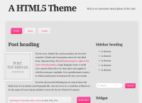 Version 2 of my HTML5 theme