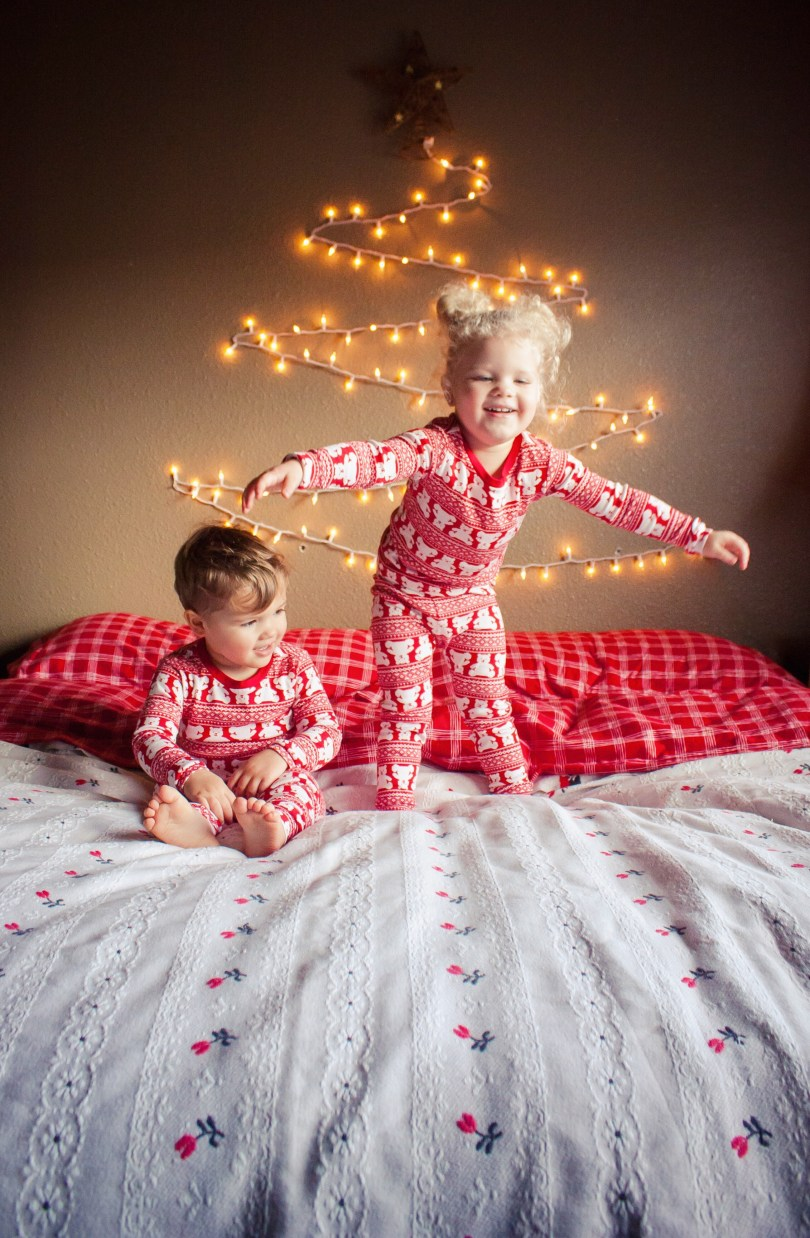 family matching christmas pajamas photos baby gap AE