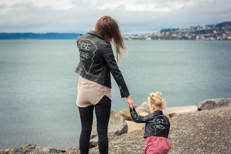 DIY Mommy and Me Best Friends Jackets Matching Outfit