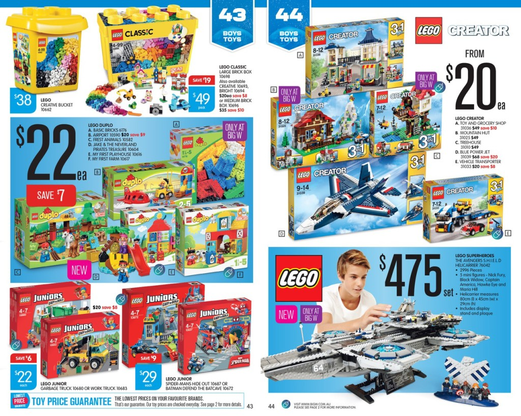 Big W Toys Catalogue Australian Lego Sales June 2015 Mid Year Toy Sale Edition