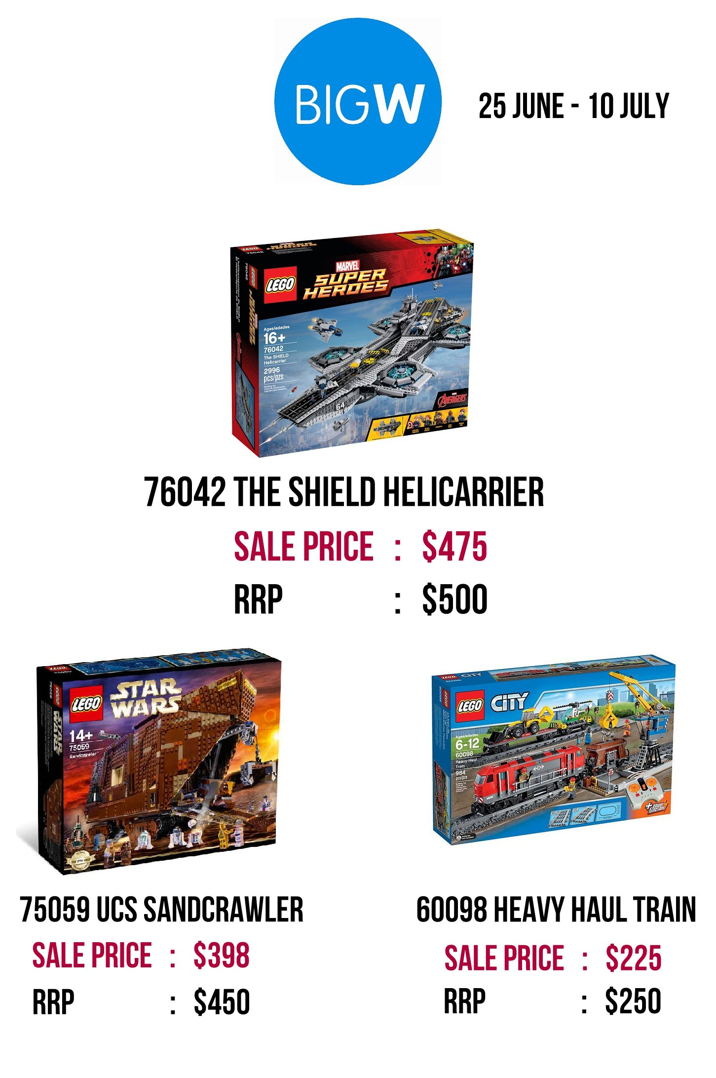 Big W Toys Catalogue Australian Toy Sale 2015 List Of Retailer Exclusive Lego Sets