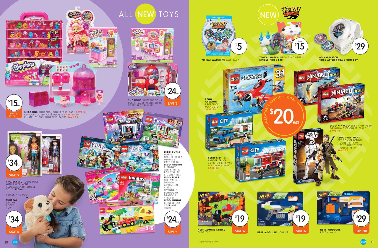 Big W Toys Catalogue Australian Lego Sales March 2016