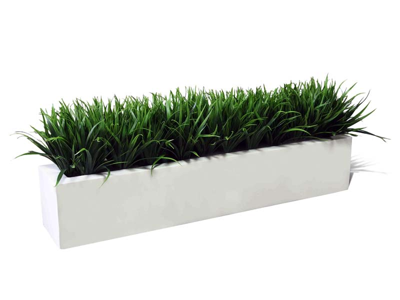 Wholesale Distributors Salon Salon Rectangular Fiberglass Planter