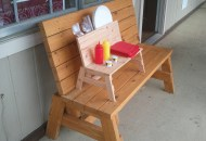 Mini Bench Condiment Holder