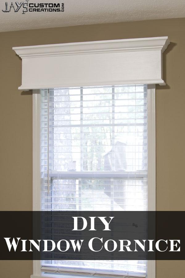 Easy DIY Window Cornice