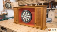 Cherry Dartboard Cabinet  Part 4 | Jays Custom Creations