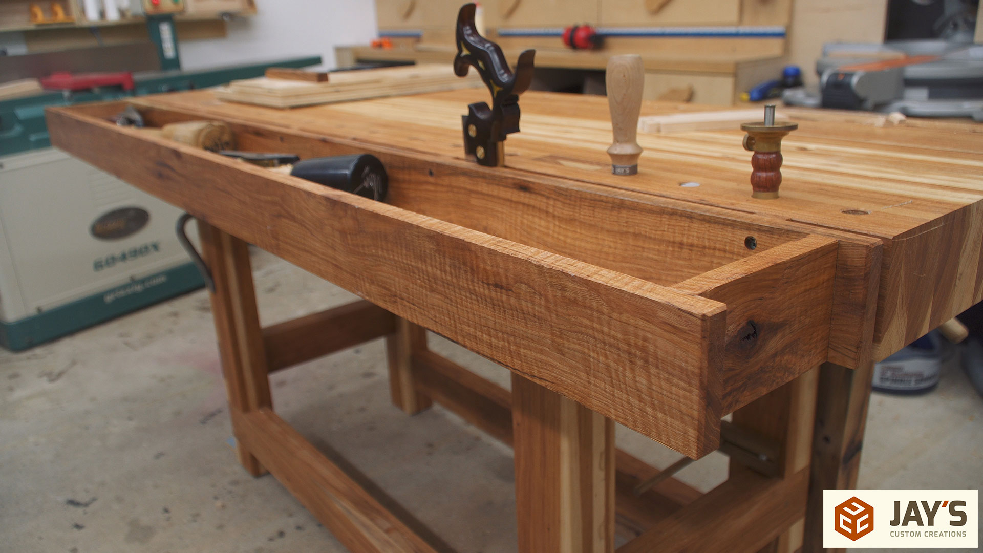 Woodworking Tool Bench Adding A Tool Well To A Workbench Jays Custom Creations