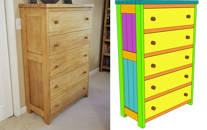 Tongue And Groove Chest Of Drawers PLAN Jays Custom Creations