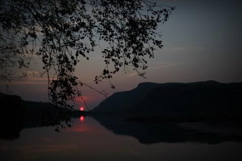 zachodzace słońce w okolicach Hommeland