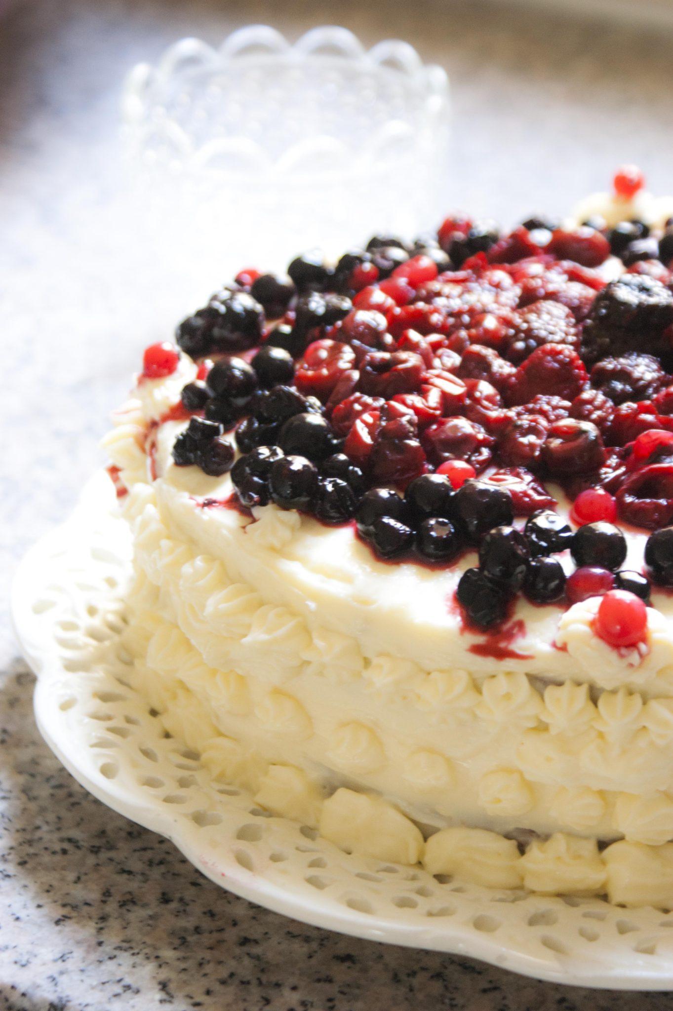 pastel de limón cumpleaños