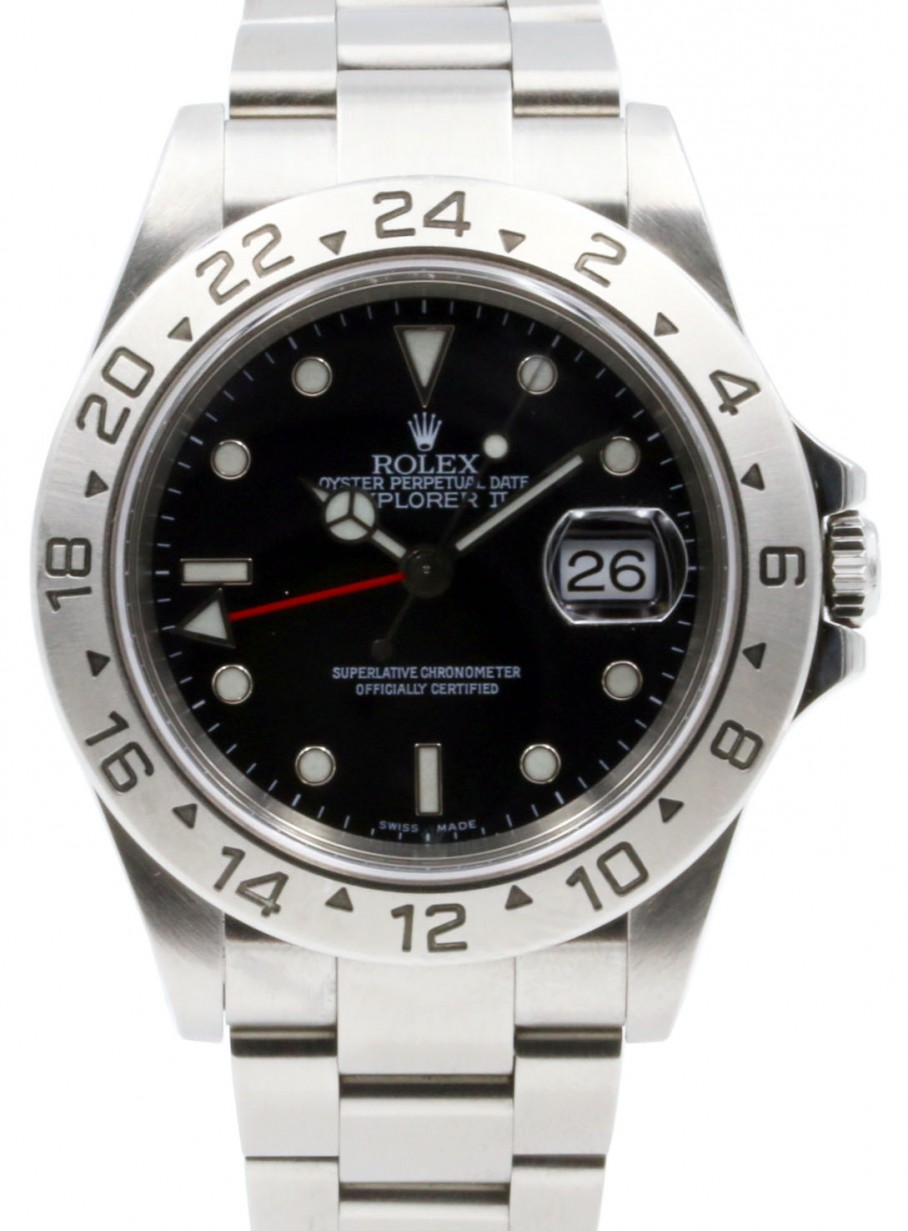 Rolex Explorer Rolex Explorer Ii 16570 Men S 40mm Black Dial Stainless Steel Oyster