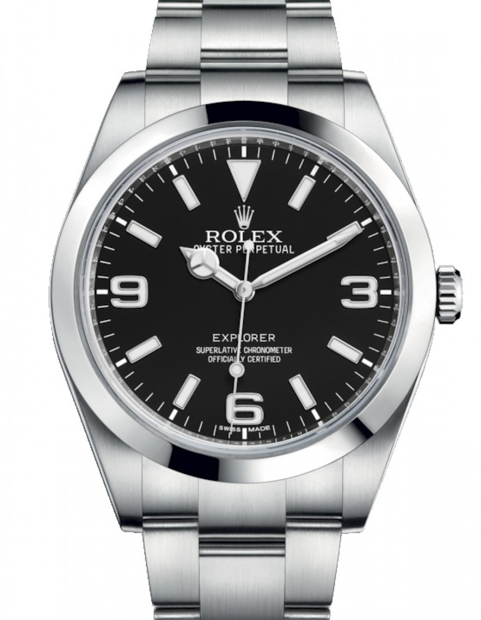 Rolex Explorer Rolex Explorer I Stainless Steel Black Arabic Index 39mm 3 6 9 New Lume Dial Oyster Bracelet 214270 Brand New