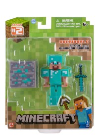 Steve with Diamond Armor - Minecraft - Jazwares